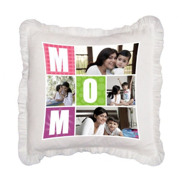 Personalized MOM Happy Mothers Day Plush Decorative Cushion