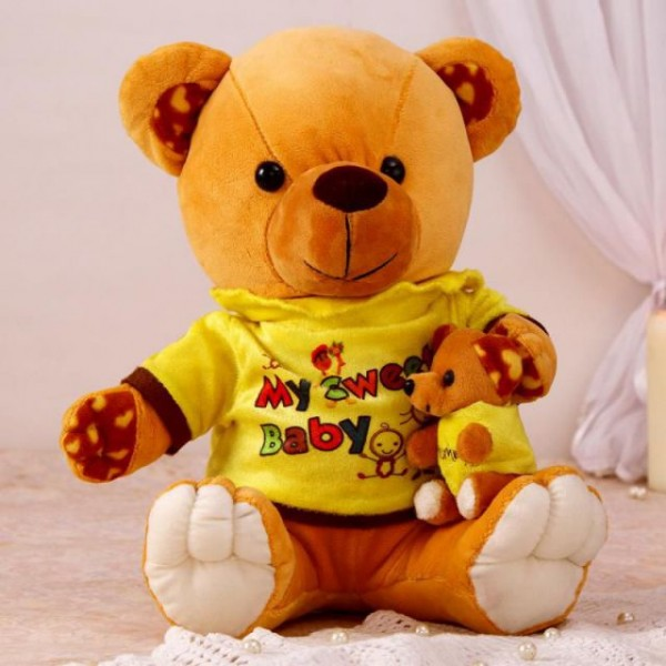 18 Inch Brown Mumma Baby Teddy Bear Plush Soft Toy