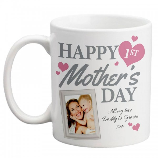 Happy First Mothers Day White Personalized Ceramic Coffee Mug