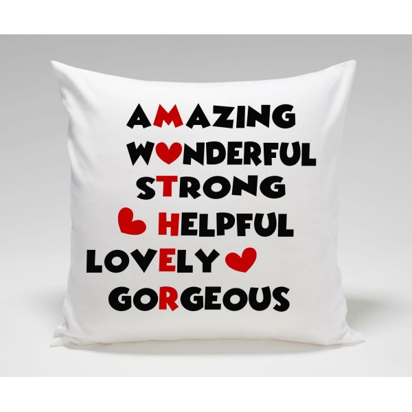 Amazing Mothers Day Crossword Plush Decorative Cushion