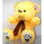 Yellow Puchi Teddy Bear wearing Muffler