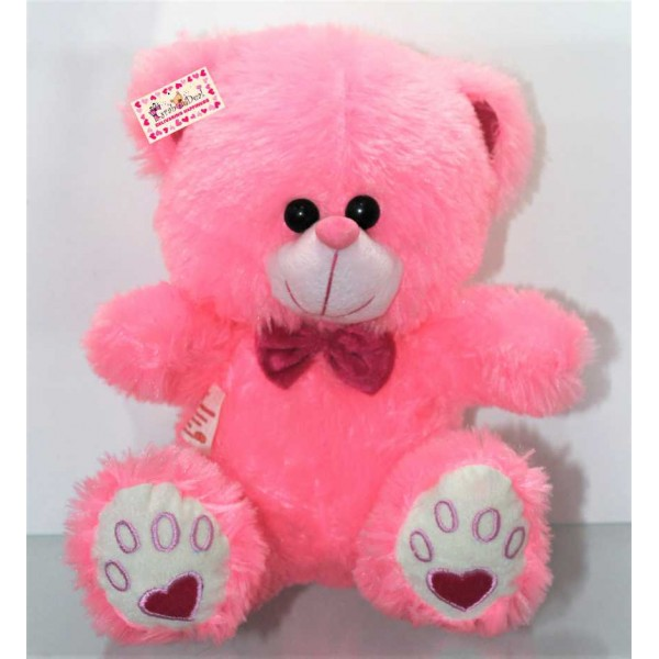 Pink Puchi Teddy Bear with a Bow