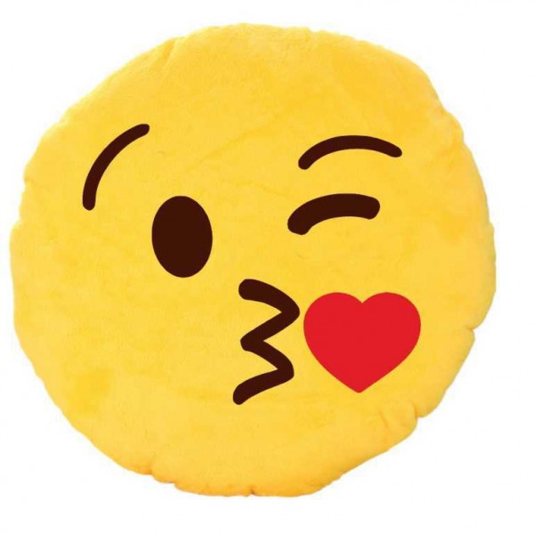 Smiley Kiss Emoticon Cushion Giving Flying Kiss