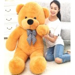 Life Size 5 Feet Soft Long Golden Brown Teddy Bear Toy 152 cm