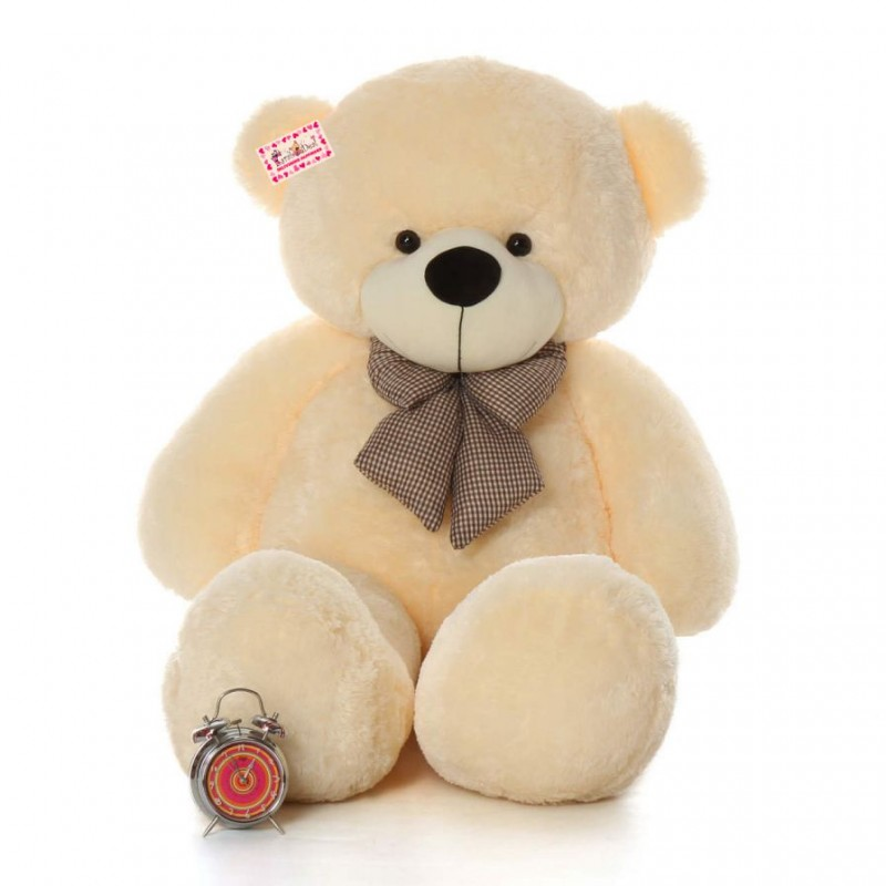 shop for giant 6 feet peach bow teddy bear soft toy 180 cm online at