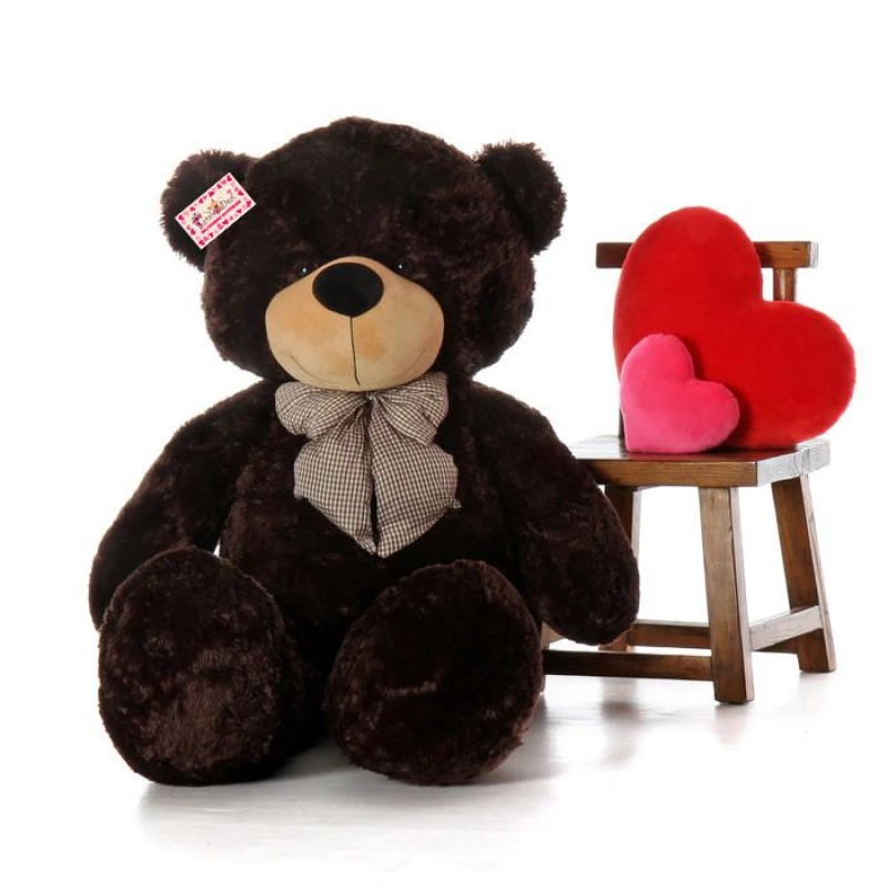 shop for giant 6 feet black bow teddy bear soft toy 180 cm online at