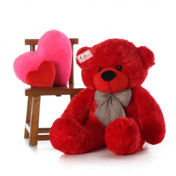Affordable 5 Feet Long Red Teddy Bear Soft Toy 152 cm
