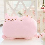 Cute Stuffed Pink Cat Plush Animal Soft Toy