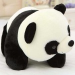 Cute Stuffed Black and White Panda Plush Animal Soft Toy Teddy Bear