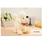 Cute Stuffed White Baby Poddle Dog Plush Animal Soft Toy