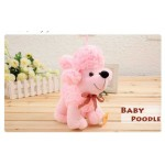 Cute Stuffed Pink Baby Poddle Dog Plush Animal Soft Toy