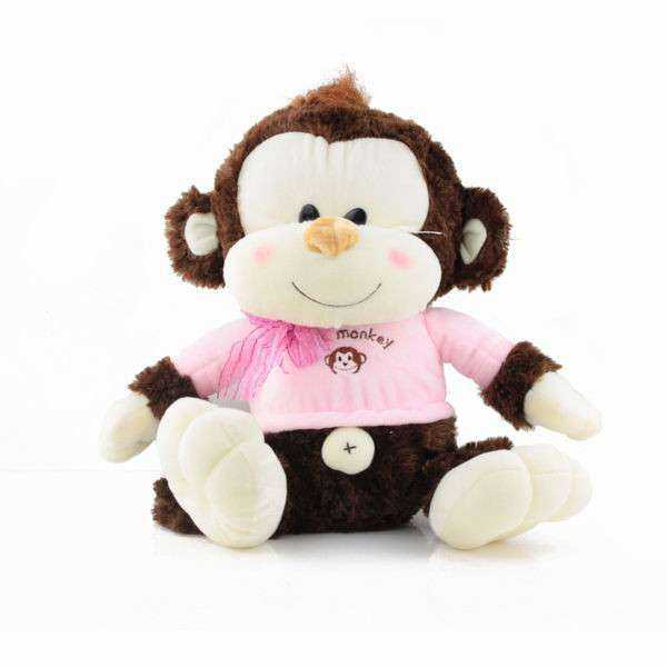 Cute 15 Inch Cream and Brown Natkhat Monkey Animal Soft Toy