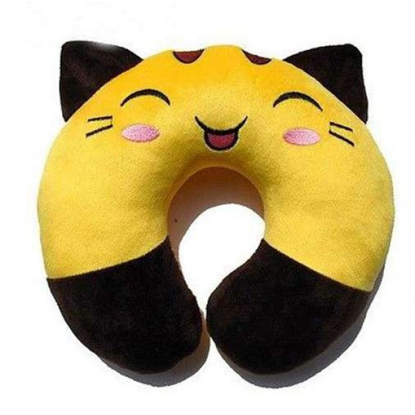 Black and Golden Cat U Shape Feeding & Nursing Baby Neck Pillow