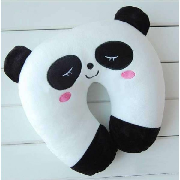 Black and White Panda U Shape Feeding & Nursing Baby Neck Pillow