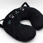Black Cat U Shape Feeding & Nursing Baby Neck Pillow
