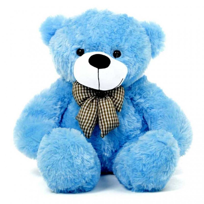 Buy 2 Feet Blue Teddy Bear With A Bow Online At Lowest