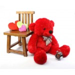 Red 3.5 Feet Bow Teddy Bear