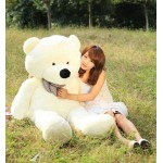 5 Feet Cream Teddy Bear with a Bow