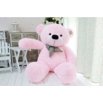 5 Feet Pink Big Smile Bow Teddy Bear