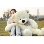 Cream 3.5 Feet Bow Teddy Bear