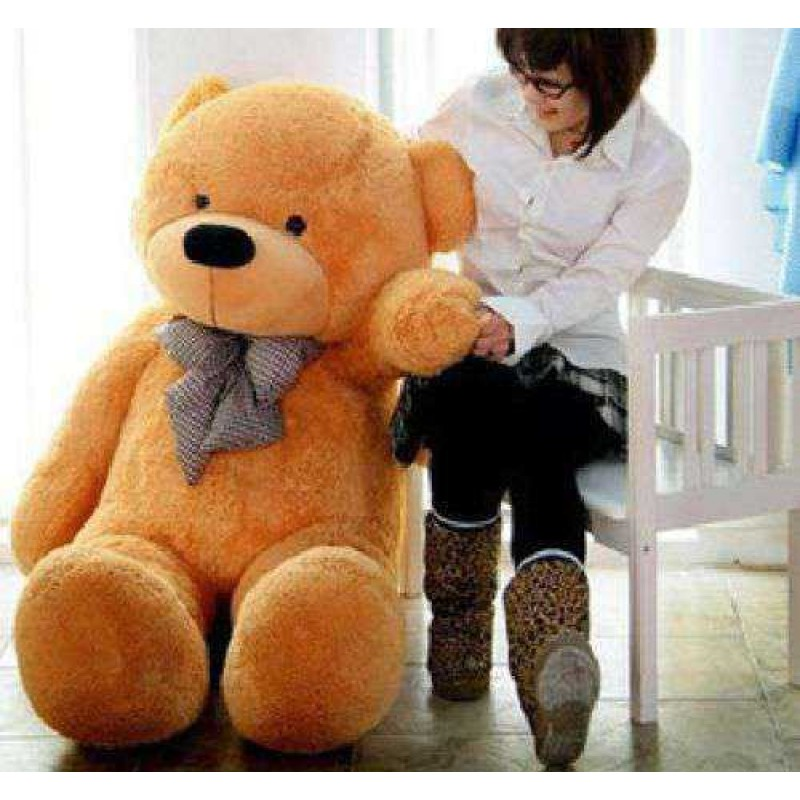 ea4321a43e0 Buy Golden Brown 3.5 Feet Bow Teddy Bear Online at Lowest Price in India