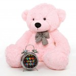 2 Feet Pink Teddy Bear with a Bow