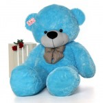 Super Giant 7 Feet Blue Bow Teddy Bear Soft Toy
