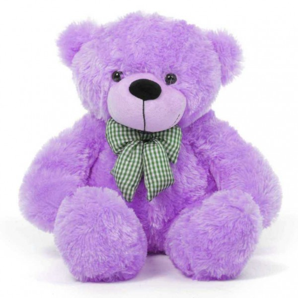 2 Feet Purple Teddy Bear with a Bow