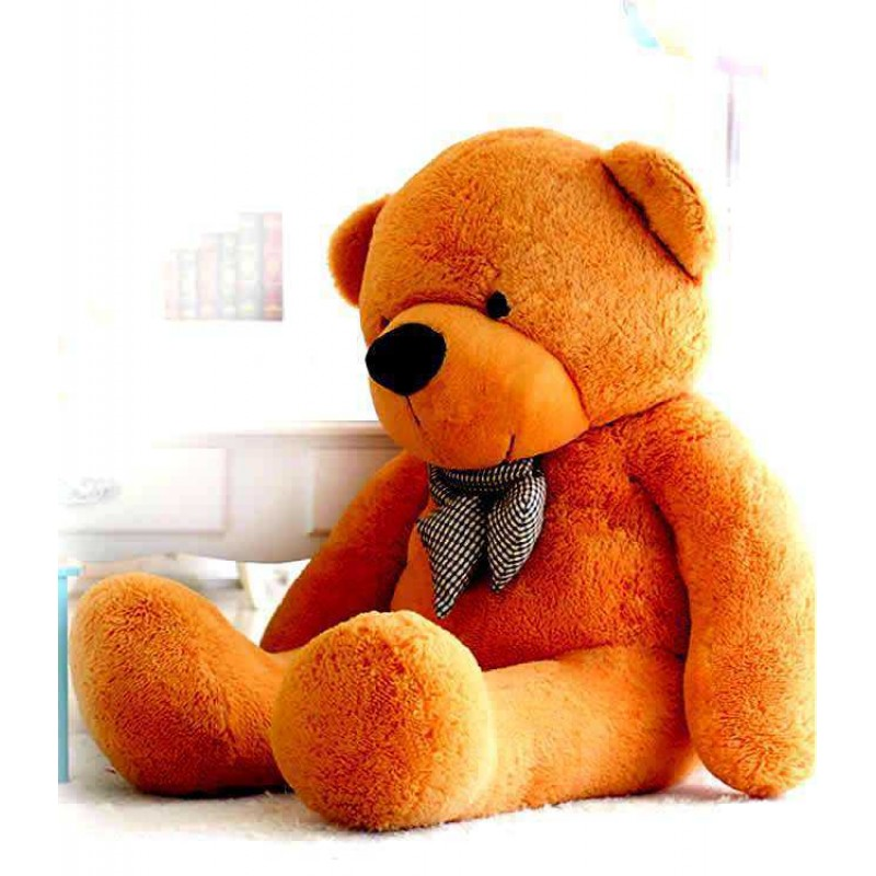 ab7cfe11f76 Buy 5 Feet Golden Brown Big Smile Bow Teddy Bear Online at Lowest Price in  India