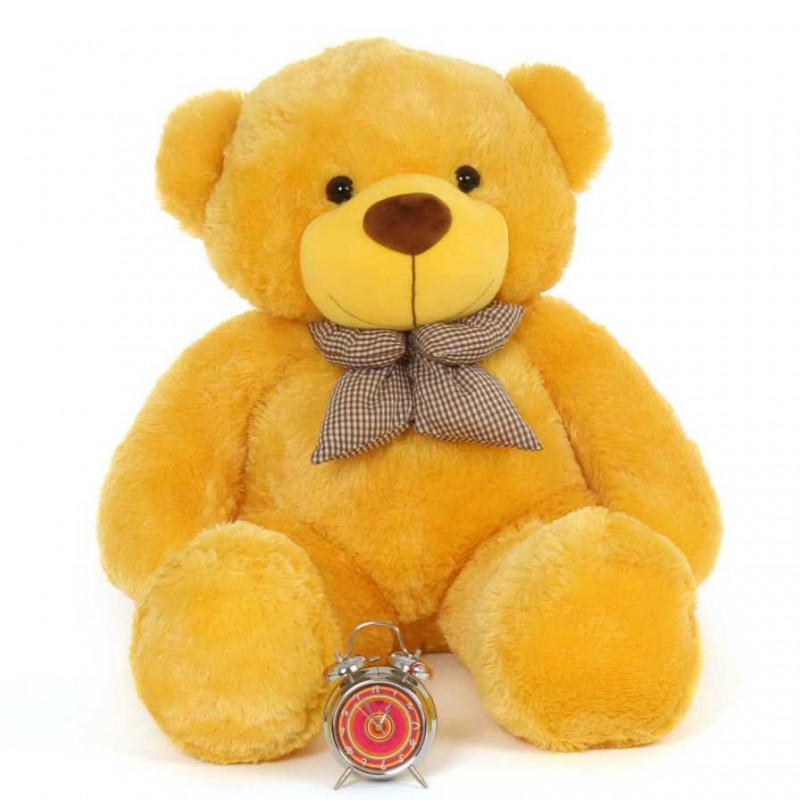Buy 4 Feet Yellow Big Teddy Bear With A Bow Online At