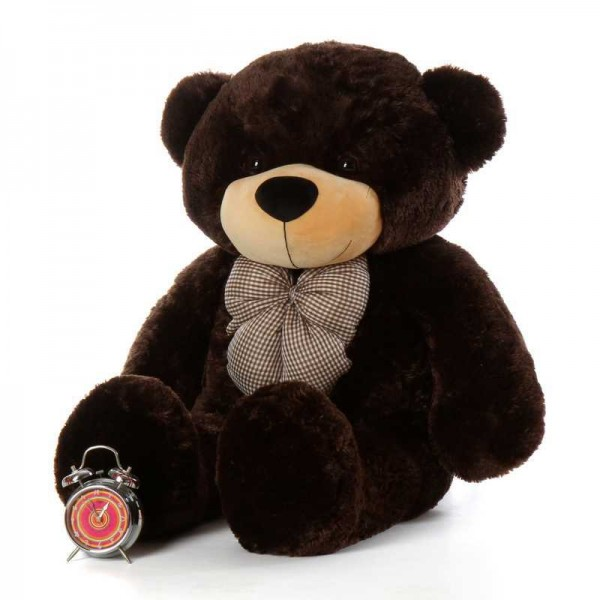 Chocolate Brown 3.5 Feet Bow Teddy Bear