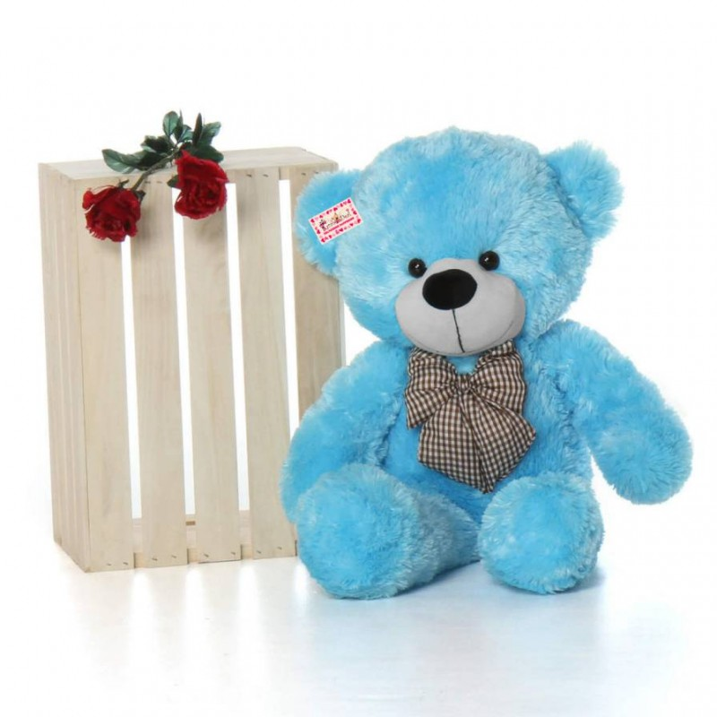 Buy 25 feet huge blue teddy bear with a bow online at lowest price 25 feet huge blue teddy bear with a bow thecheapjerseys Gallery