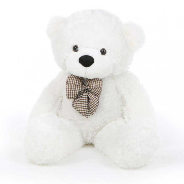 2 Feet White Teddy Bear with a Bow