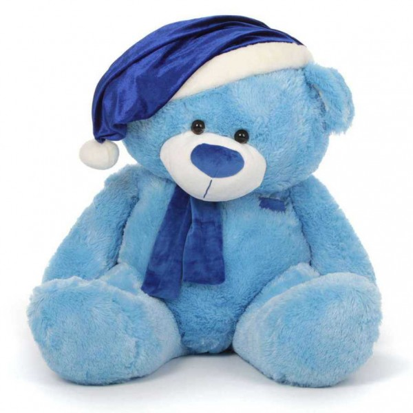 Blue 5 Feet Special Christmas Teddy Bear with muffler