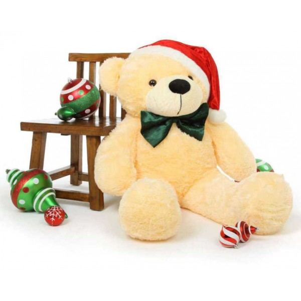 5 Feet Special Christmas Peach Plush Teddy Bear