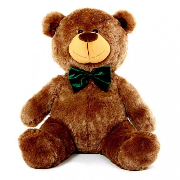 3.5 Feet Dark Brown Christmas Bow Teddy Bear