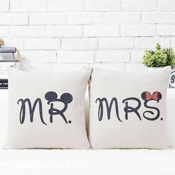 Mr & Mrs Big Ears Couple Cushions