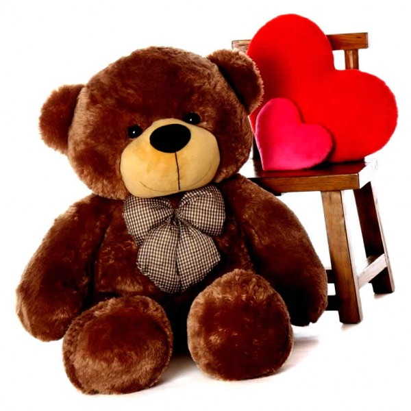 4 Feet Fat and Huge Brown Bow Teddy Bear