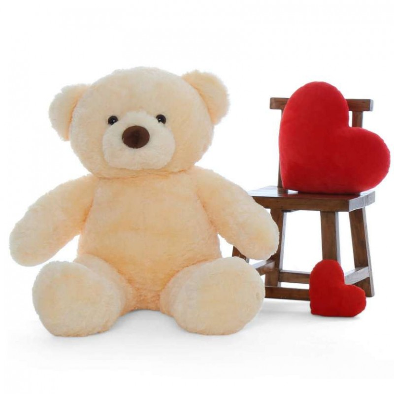 28ac69343b61 Buy 4 Feet Fat and Huge Peach Teddy Bear Online at Lowest Price in India