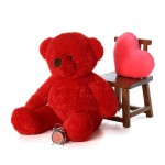 4 Feet Fat and Huge Red Teddy Bear