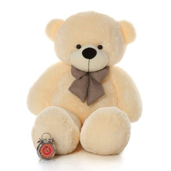 5 Feet Fat and Huge Peach Bow Teddy Bear
