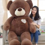 Giant 5 Feet Fat and Huge Brown Love Teddy Bear