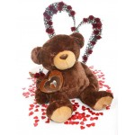 Dark Brown 5 Feet Big Teddy Bear with a heart
