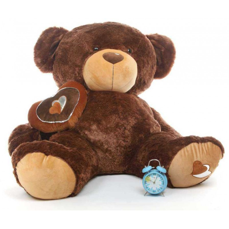 74c0190af01f Buy Dark Brown 5 Feet Big Teddy Bear with a heart Online at Lowest Price in  India