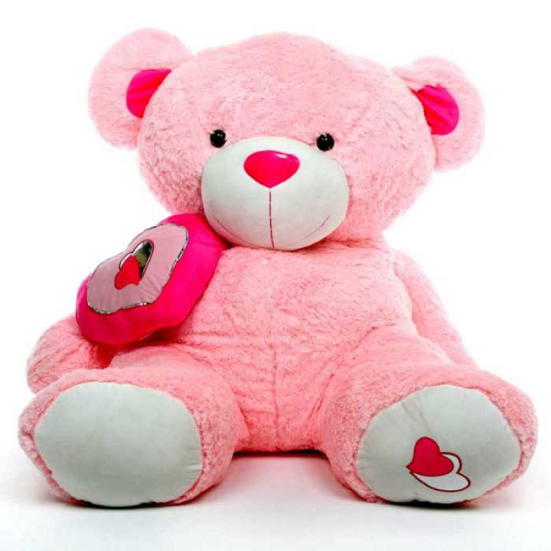 3d7bd4dd9113 Buy Pink 5 Feet Big Teddy Bear with a heart Online at Lowest Price in India