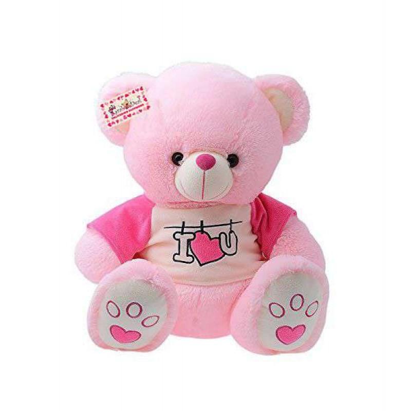Buy cute 15 inch pink teddy bear wearing i love you t shirt online cute 15 inch pink teddy bear wearing i love you t shirt altavistaventures Images