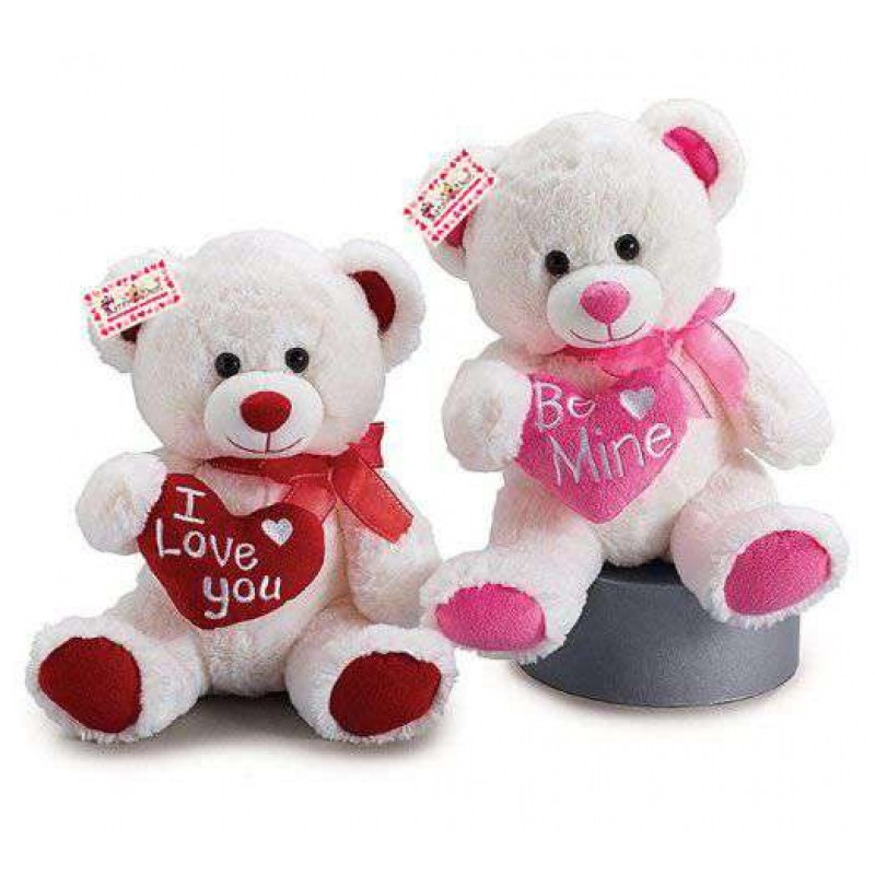 Buy Set of 2 Beautiful Love Teddy Bears holding Hearts Online at Lowest Price in India | GRABADEAL