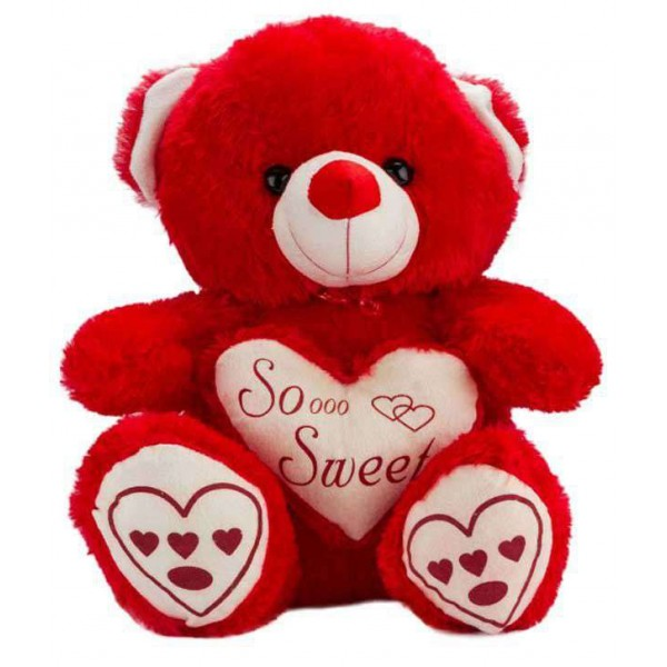 Red Teddy Bear holding red So Sweet Heart
