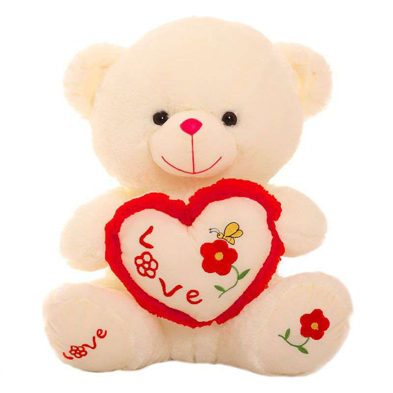 aba709dfb9 Buy Cute 15 Inch Peach Love Paw Teddy Bear holding a Butterfly Love Heart  Online at Lowest Price in India | GRABADEAL