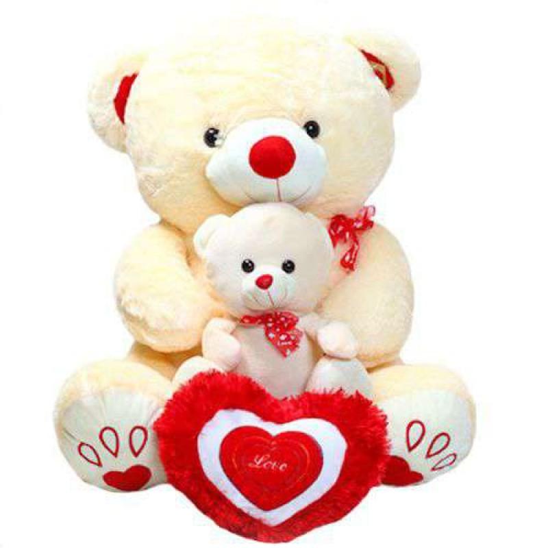 Buy cute peach mother baby love teddy bear online at lowest price in cute peach mother baby love teddy bear altavistaventures Images